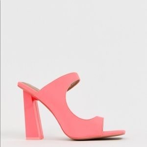 ASOS toe loop  barely there heeled sandals size 8